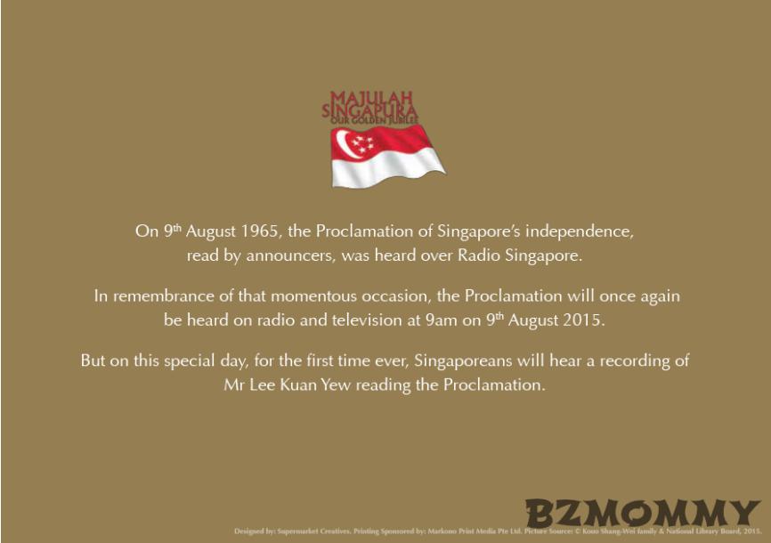 singapore proclamation 1