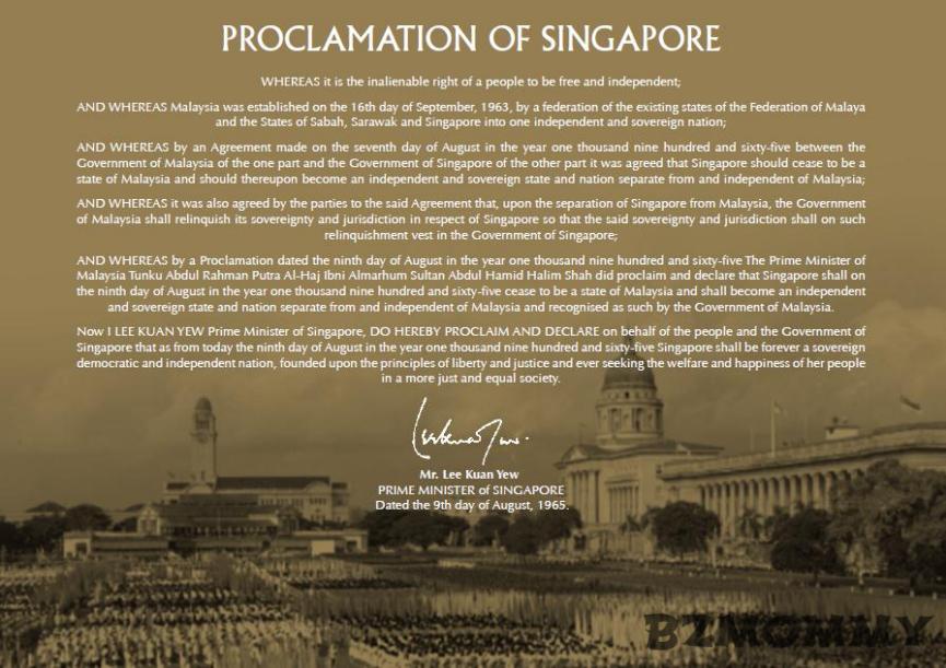 singapore proclamation